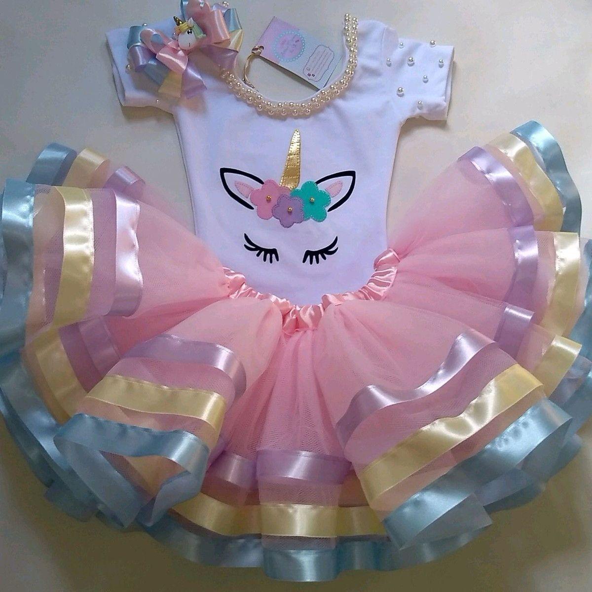 Fantasia Infantil Tutu Unicornio Luxo Fantasias Infantis
