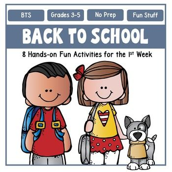 back to school activities for the first week teaching