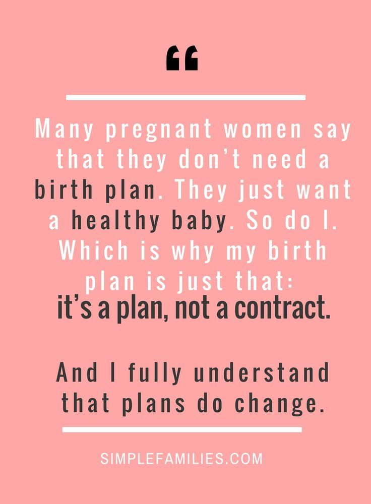 A Simple Birth Plan Why Every Mom Needs One Pregnancy