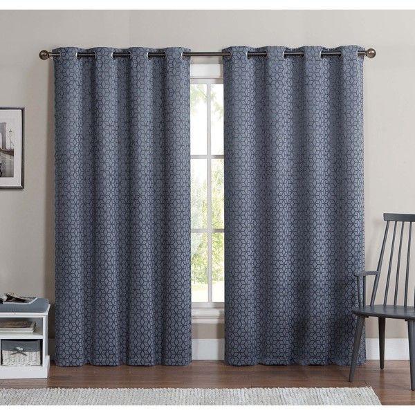 Victoria Clics Duncan 84 Inch Grommet Top Blackout Curtain Panel Pair