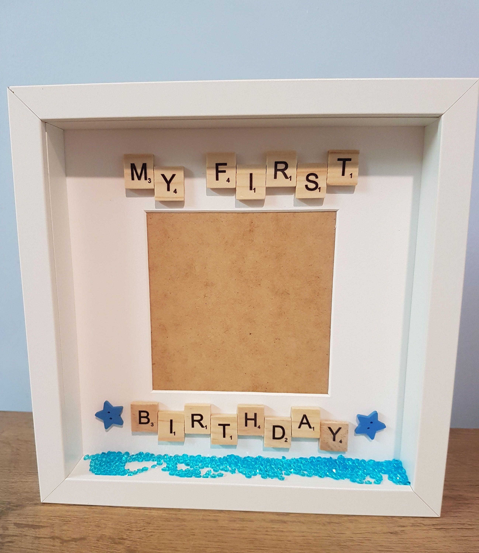 My first birthday, first birthday gift, birthday frame, birthday ...