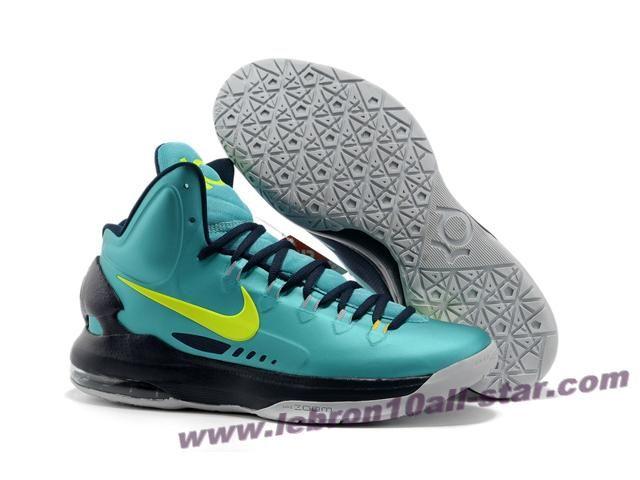 Wholesale Cheap 554988 300 Nike Zoom KD V Jade Black Grey Basketball Shoes  Store