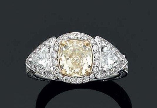 bague diamant forme coussin