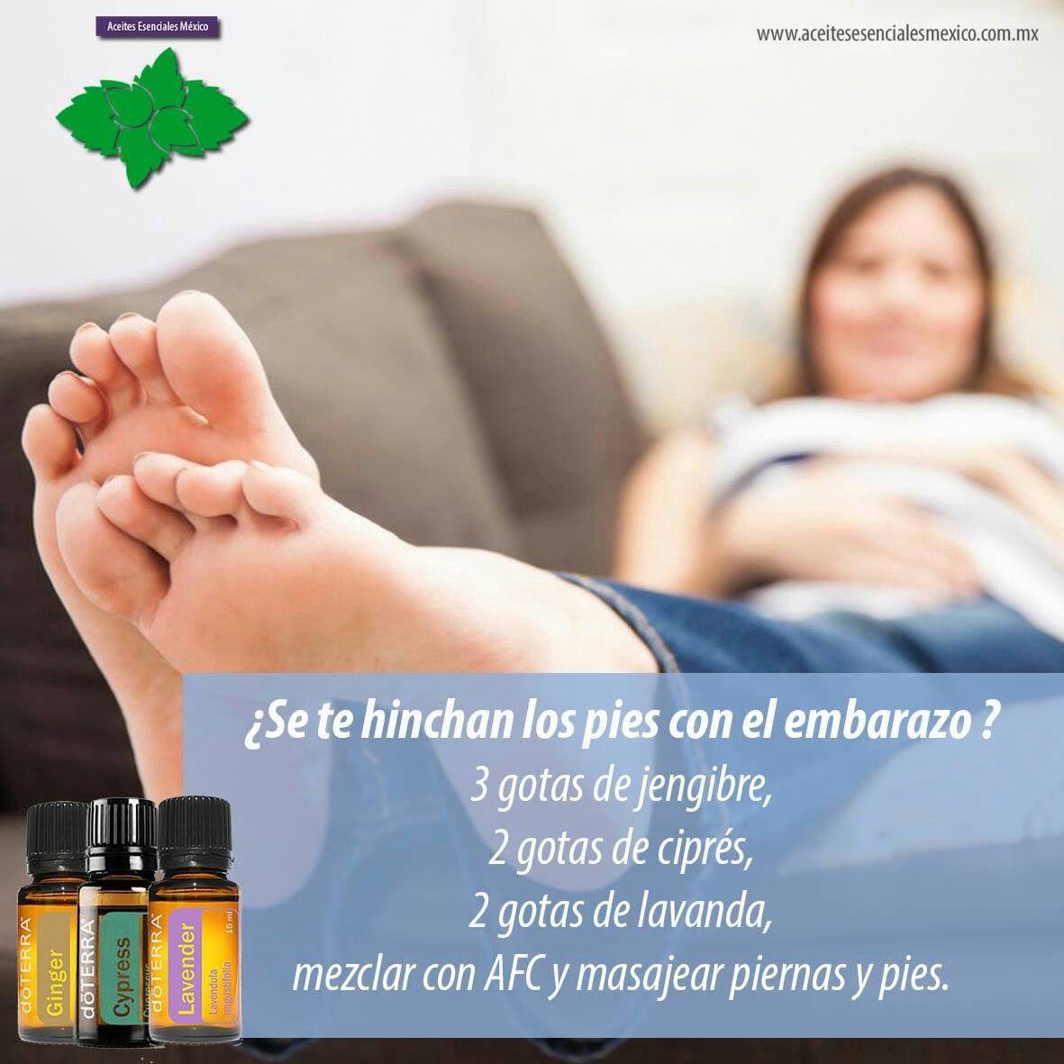 Como deshinchar los pies durante el embarazo