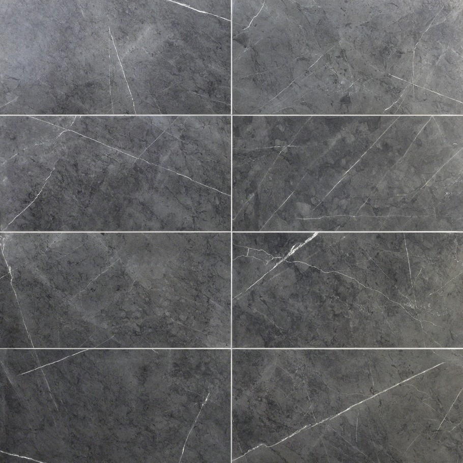 Marble Tech Amani Gray 12x24 Matte Porcelain Tile In 2020 Porcelain Tile Marble Look Tile Gray Shower Tile