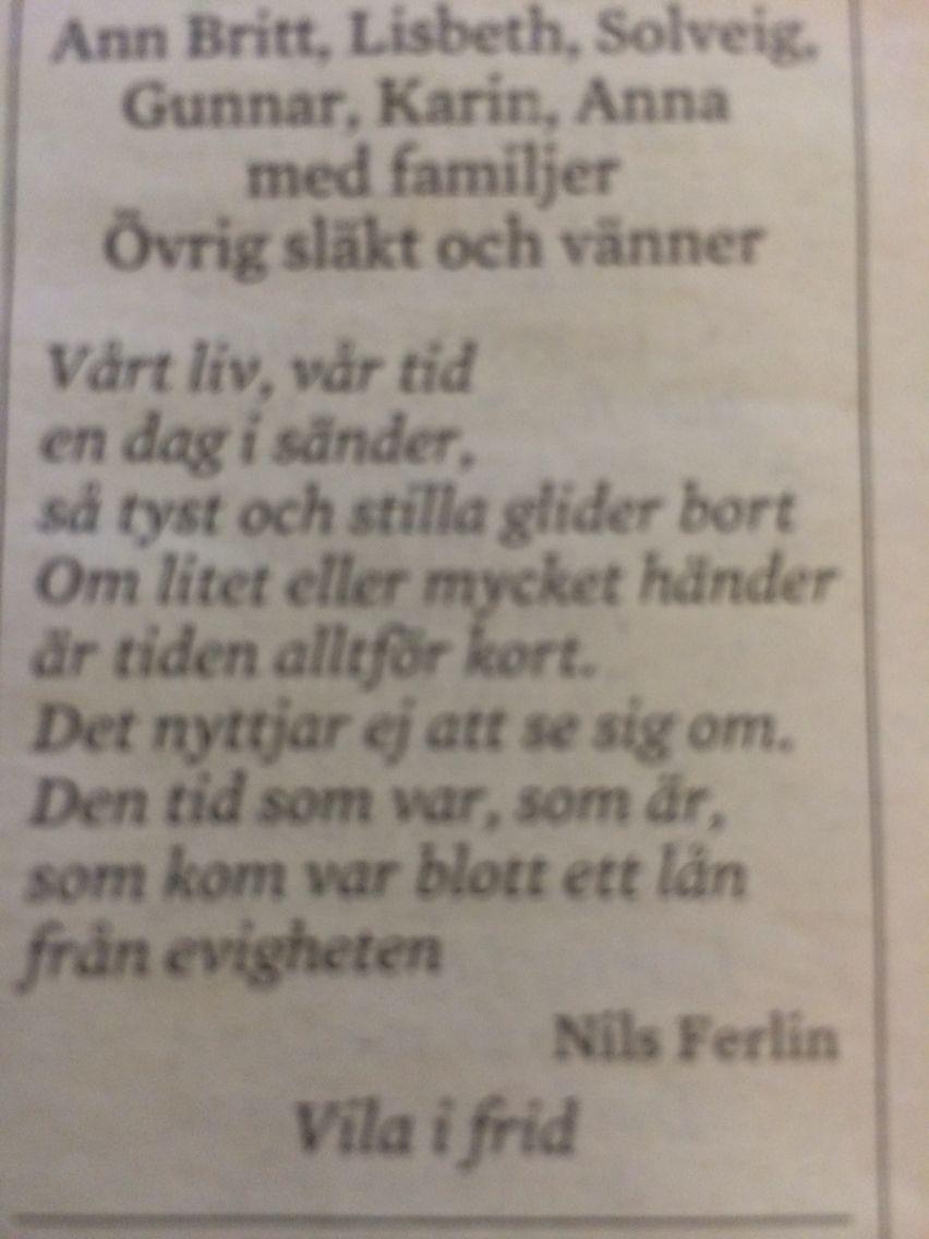 Nils Ferlin Dikter Poesi