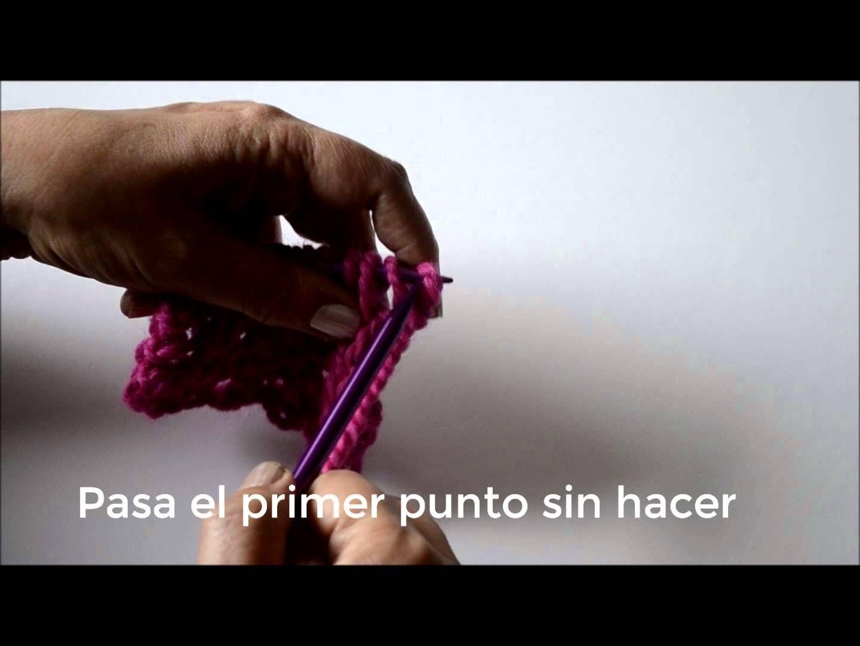 Segunda manera de tejer Punto Inglés.