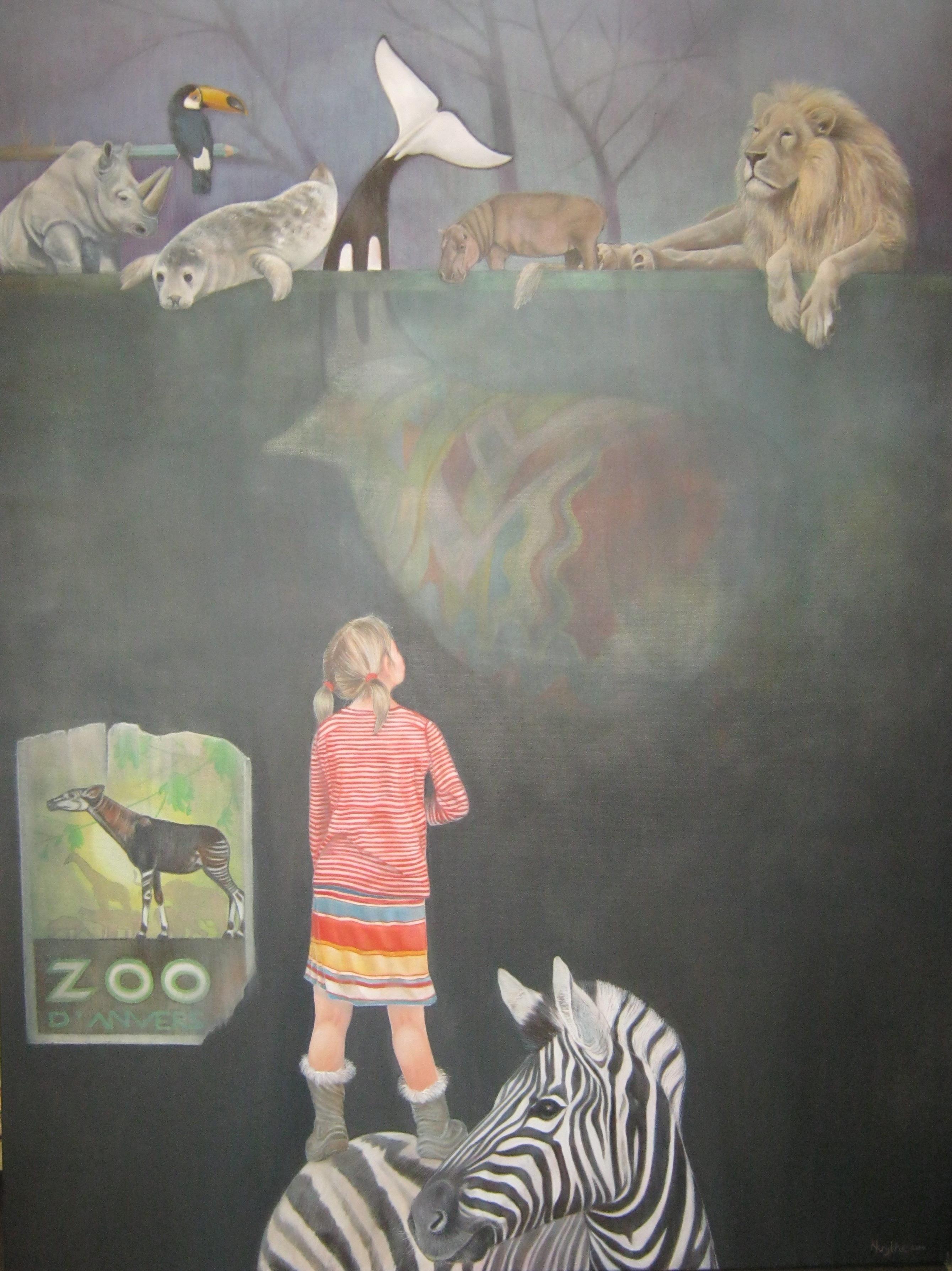 Kirsten Krijthe. Zoo. In de (kinderljjke) fantasie is alle mogelijk. De muur laat deze verbeelding zien. Denk groter dan je bent...