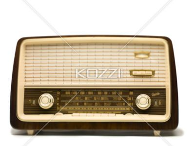 antique radio - Antique radio isolated on white background