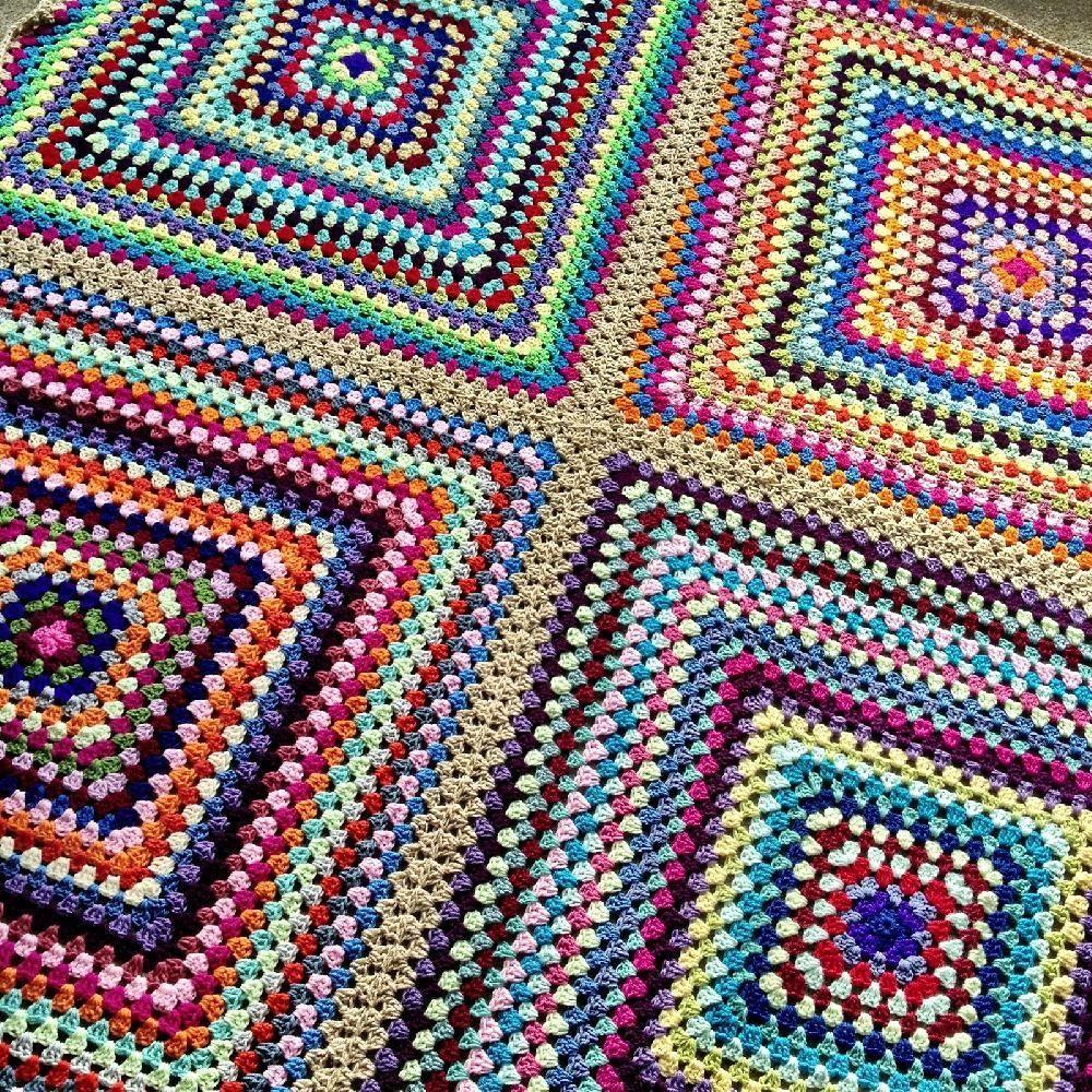 Four Square Crochet Pattern By Rachele Carmona Knitting Patterns