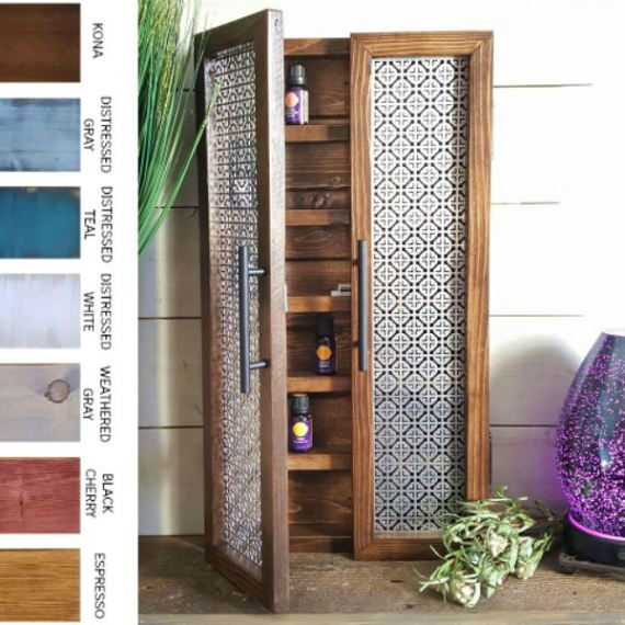 Essential Oil Storage Cabinet Mosaic Kitchen Storage Nail