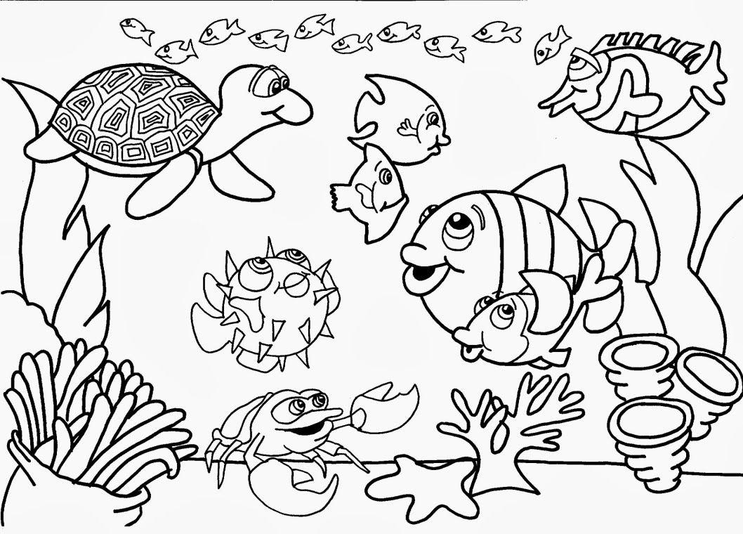 Desenhos Para Colorir Animais No Fundo Do Mar Desenhos Para
