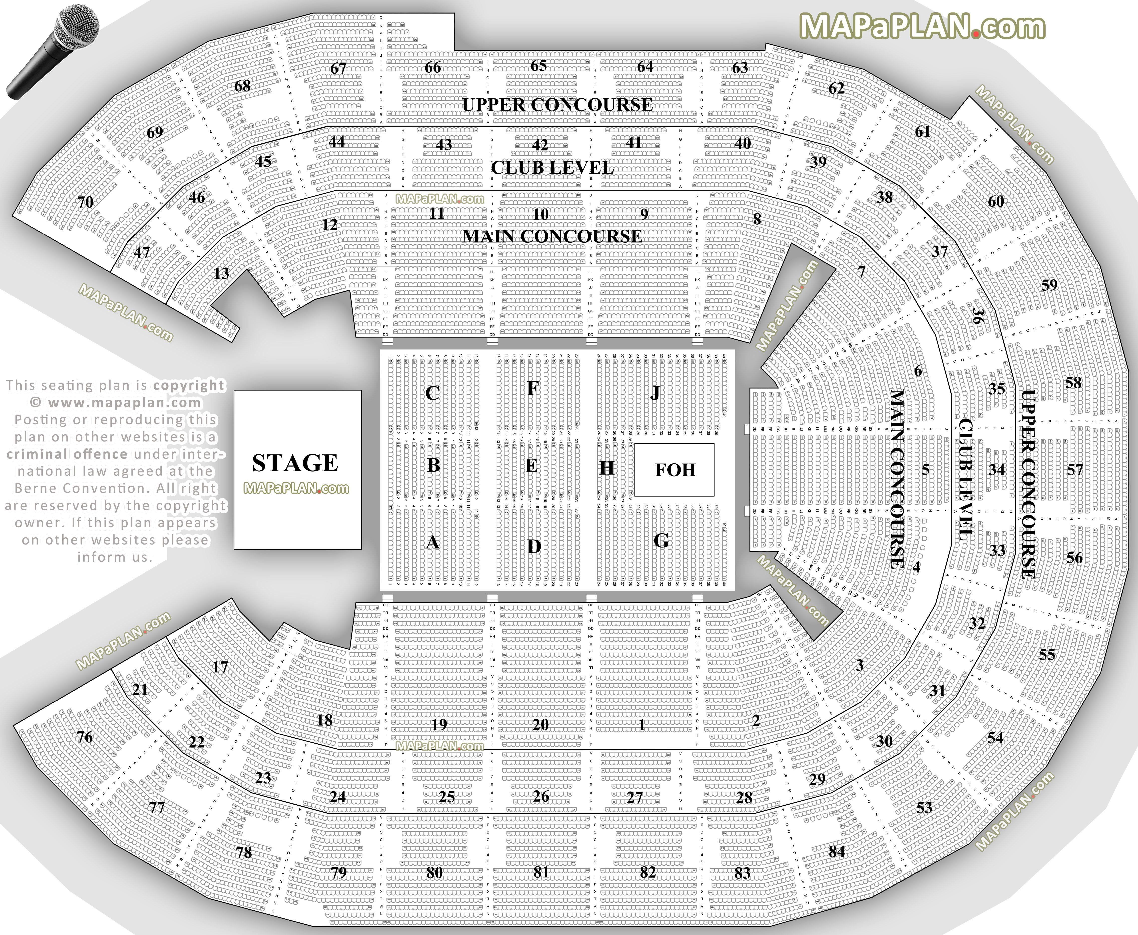 Rogers Arena Floor Seating Plan Sydney Allphones Arena Detailed Seat Numebers Amp Row