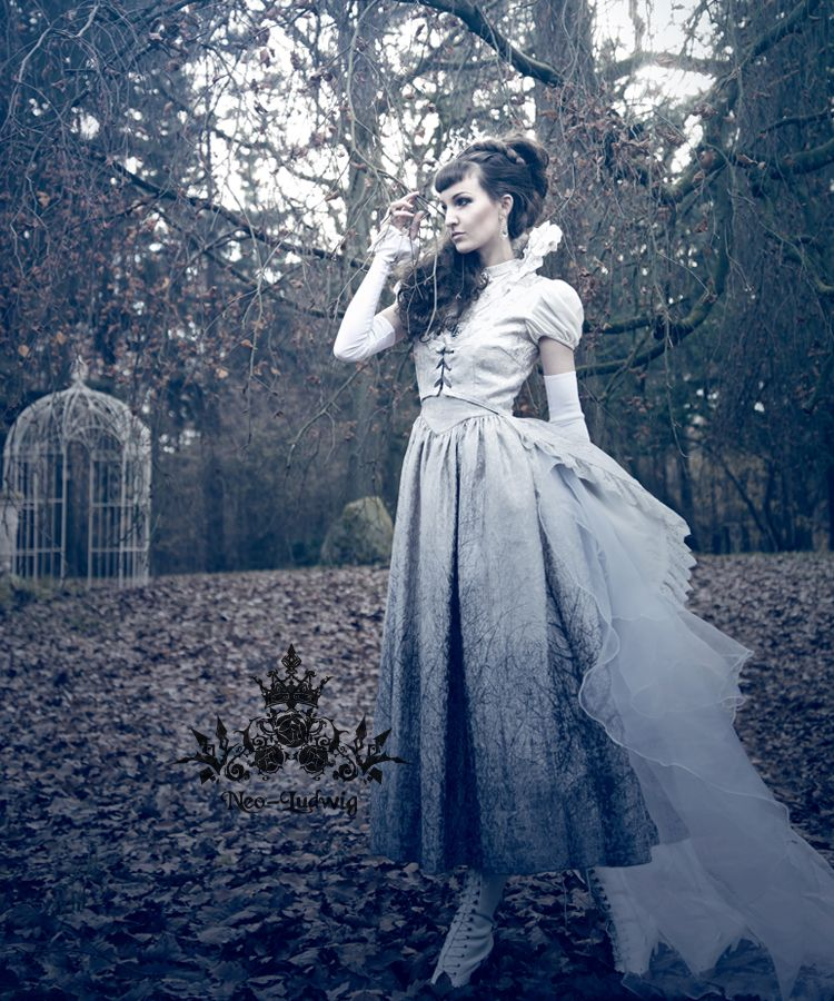 fanplusfriend - Ice Forest Elegant Gothic Lolita Fairy Queen Ceremony Jaquard Dress/OP