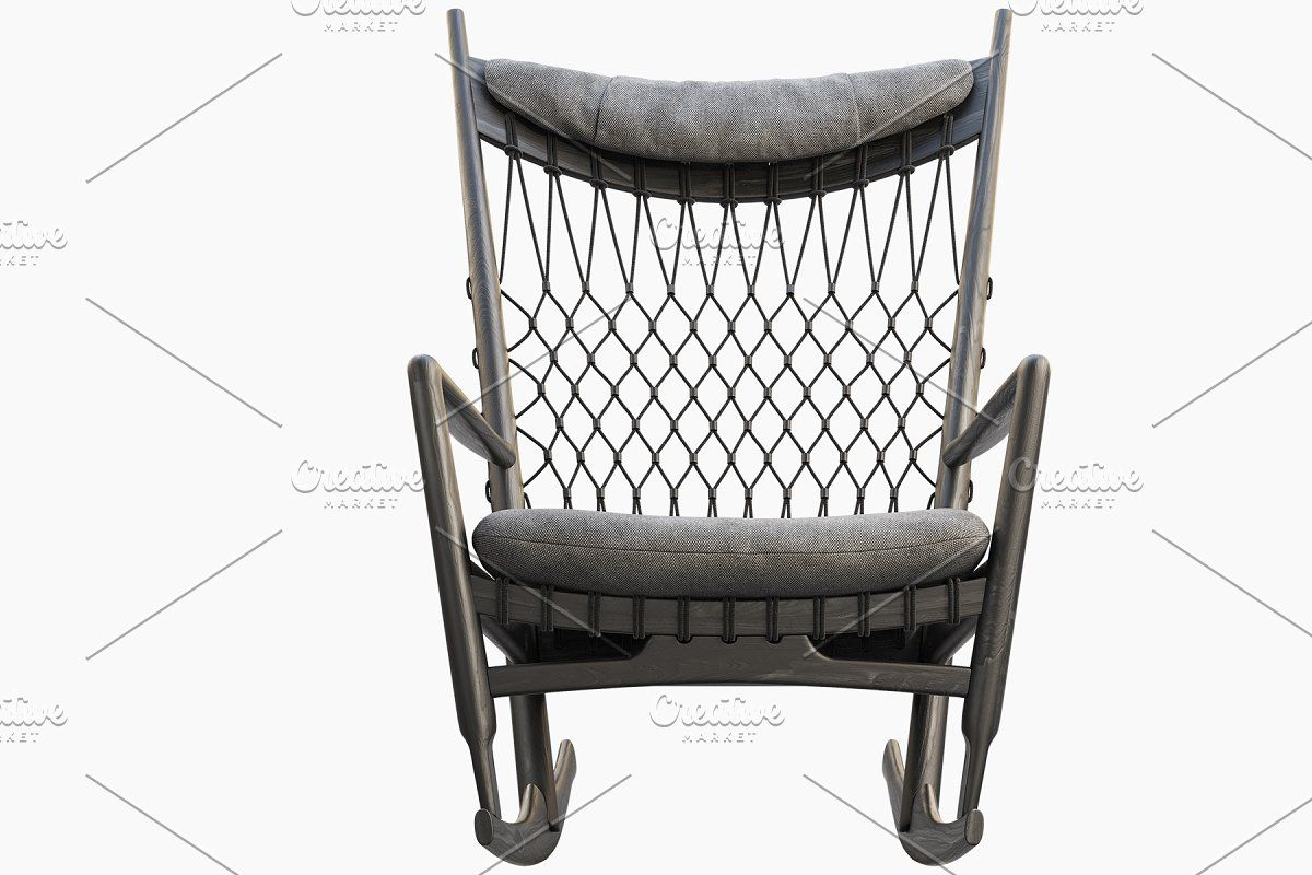 Pp124 Rocking Chair 3d Model In 2020 Rocking Chair Chair Graphic Design Photography