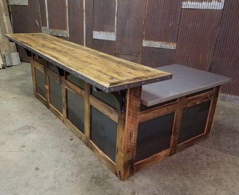 Reclaimed Wood /& Steel Reception Desk