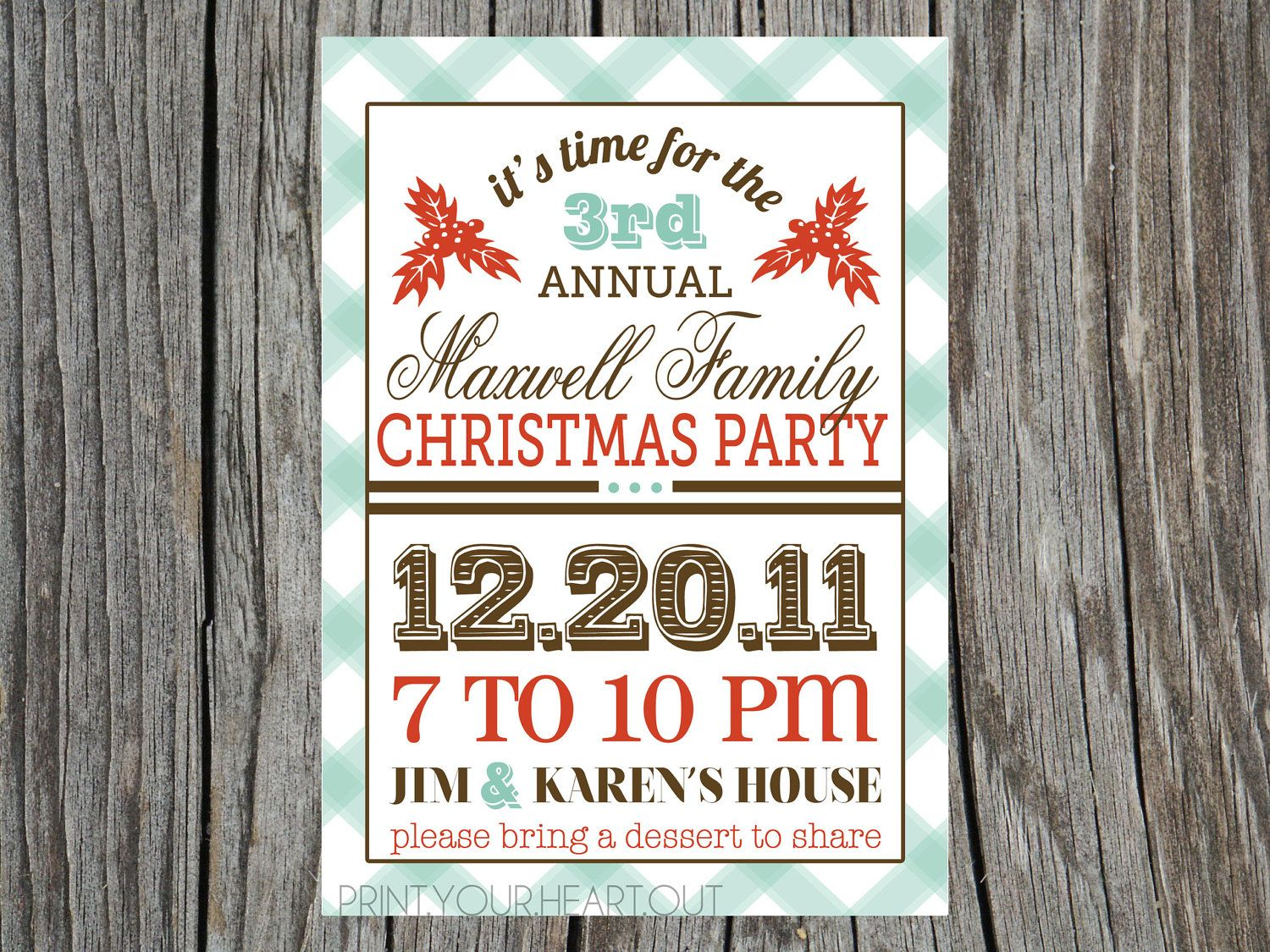 Retro Christmas Party Ideas Part - 41: Vintage Retro Christmas Party Invitation I Really Like This Idea For My Mom  And Dadu0027s Annual Xmas Party! Plain, Simple, And To The Point!