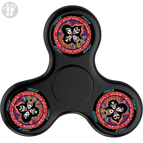 Eller Fun Custom Fashion KISS Logo Fid Spinner Top Spin Tri