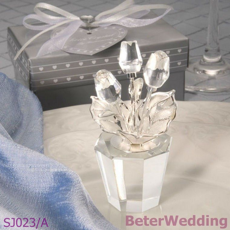 novelty Souvenir factory hot sale SJ023/A Choice Crystal Flower Pot party Decoration or Birthday Gift  http://www.aliexpress.com/store/512567
