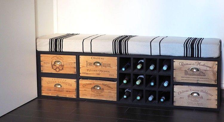 Meuble Caisse De Vin En Bois