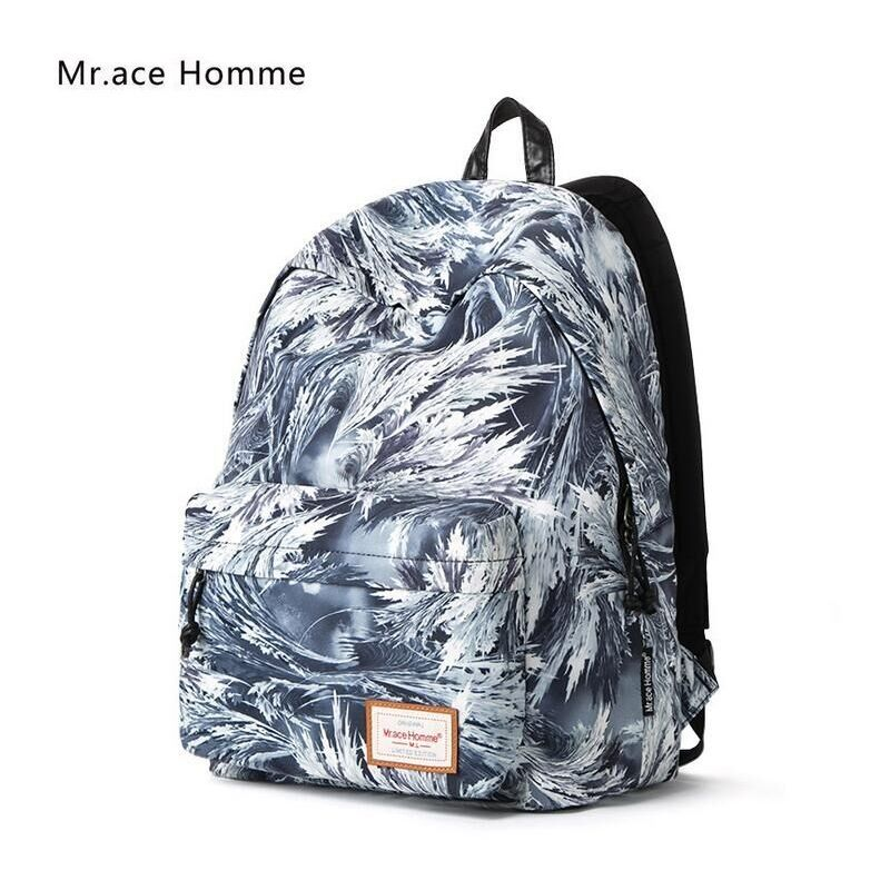 a8135014f6 Mr.Ace Homme Fashion Mens Backpack Nylon Backpacks Women College School  Backpacks for Teenagers Quality