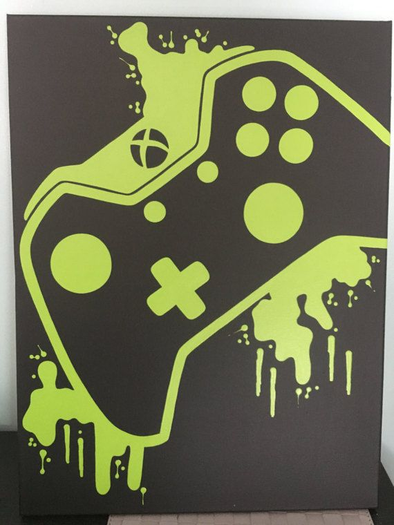 Xbox One Video Game Controller Painting Video Game Art Hand