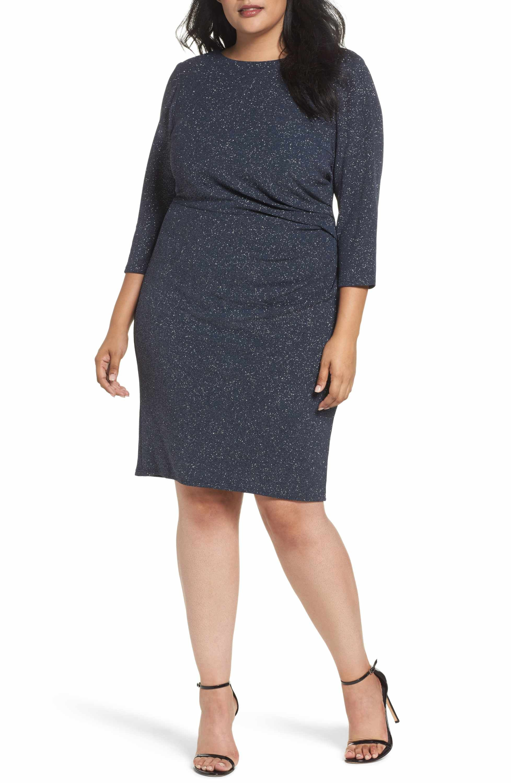 3f58d4d014e8 Main Image - Eliza J Gathered Sheath Dress (Plus Size) | Stylin ...