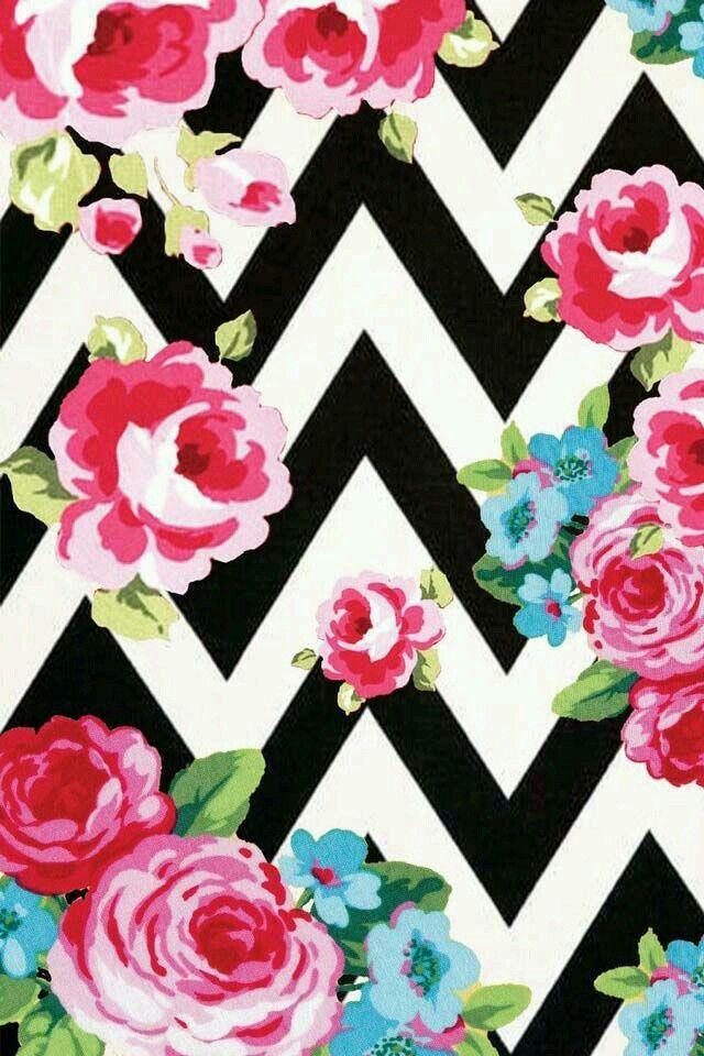 Estampado muy colorido de  rosas muy llamativa