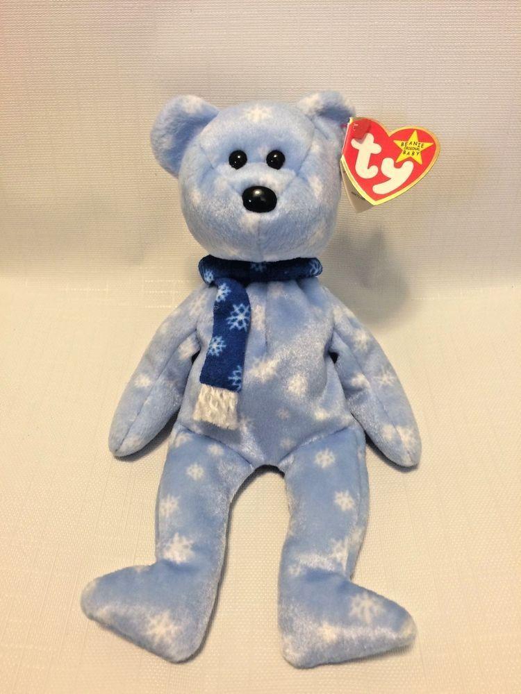 a4ccb49a71a NWT RARE  1999 Holiday Teddy  Bear Beanie Baby w  Errors  TY