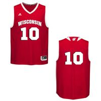 cheap for discount e67d7 9fcf7 Wisconsin Badgers #10 Basketball Jersey @ nigel hayes ...