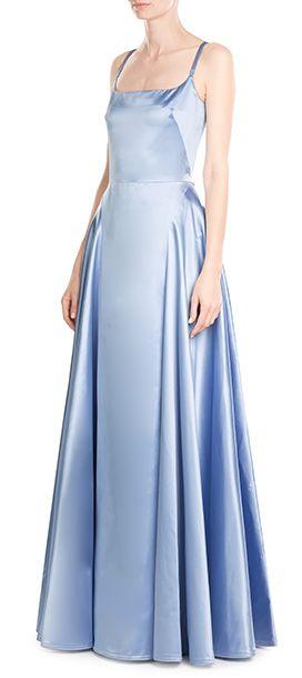 Nina Ricci Satin Floor Length Gown Stylebop Com Nina Ricci Ricci