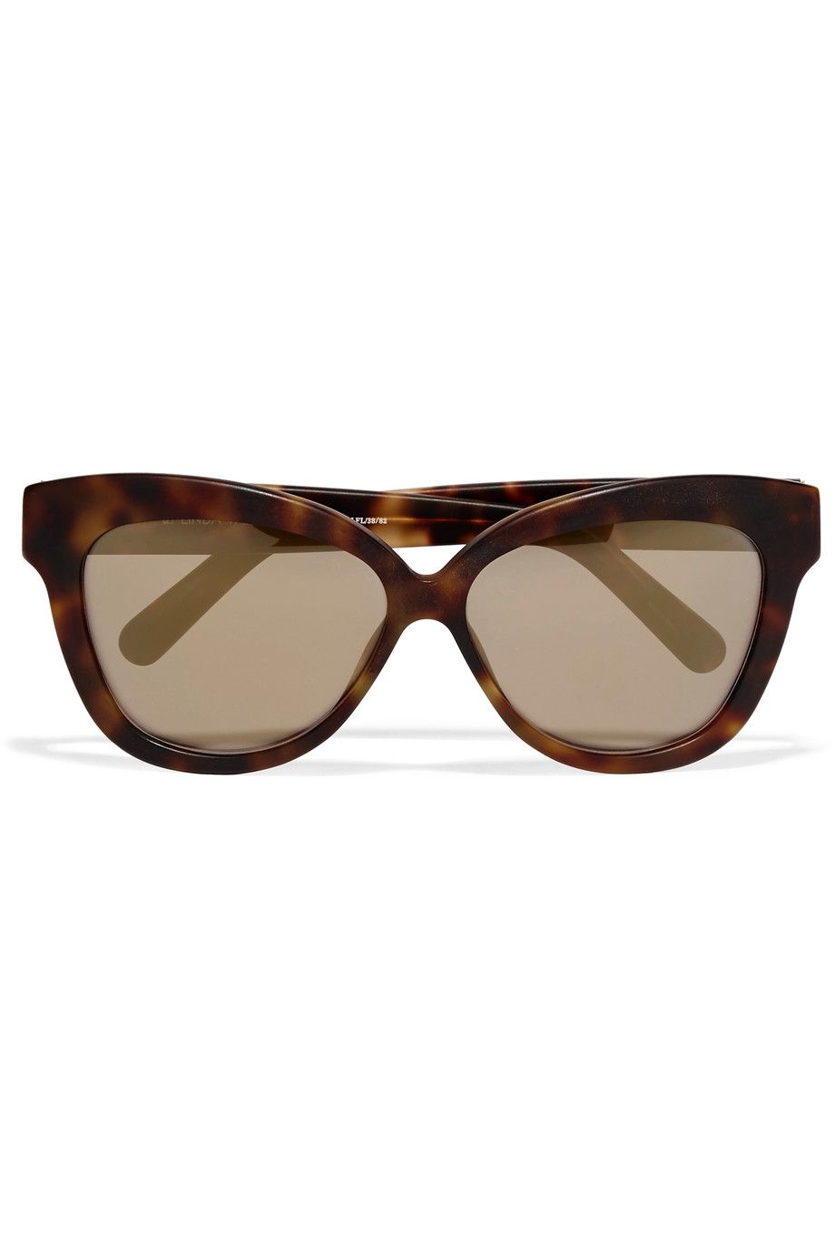 5a2c3bd0f43f Linda Farrow Cat-eye matte-acetate mirrored sunglasses