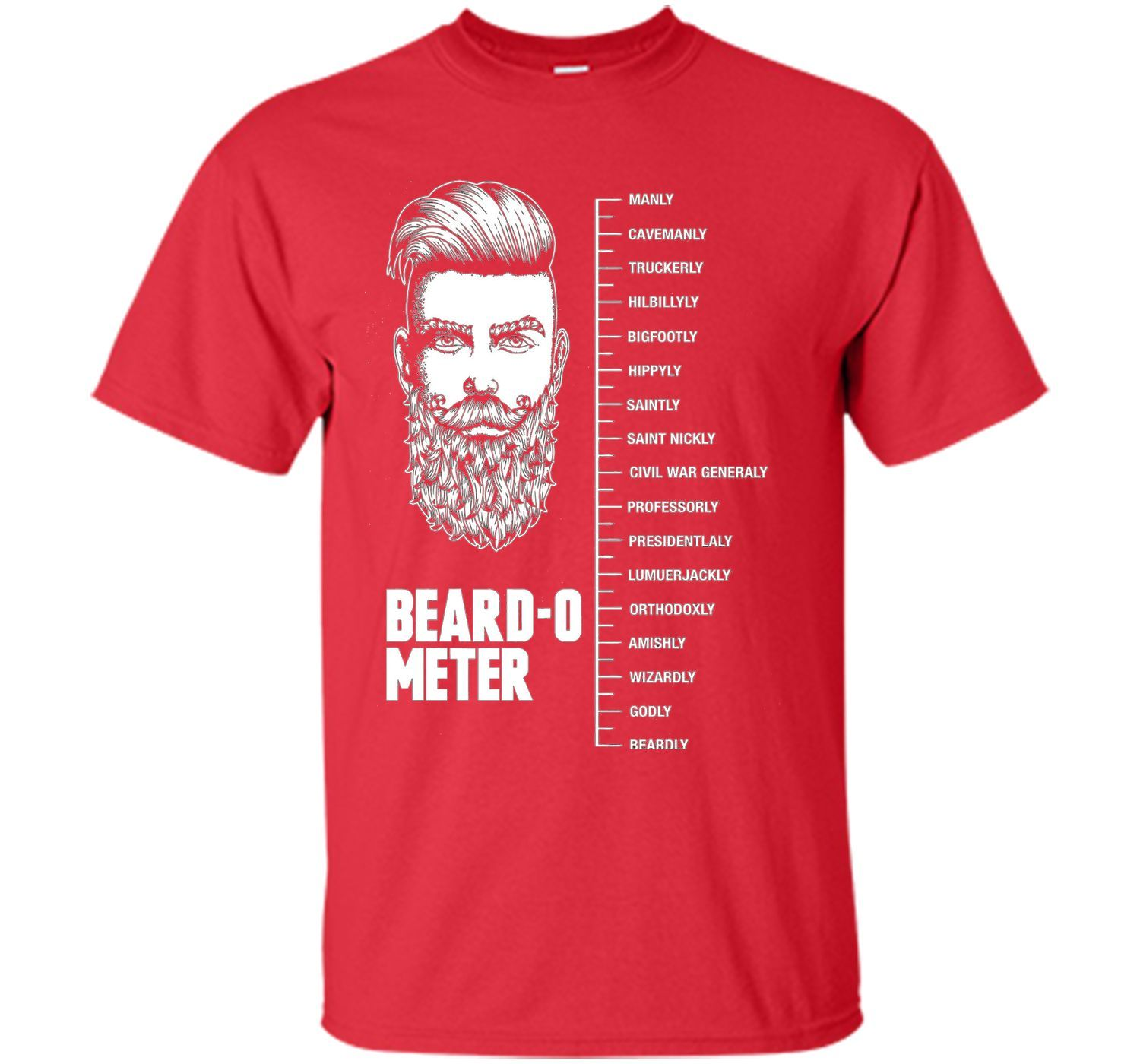Beard-O-Meter Funny Father's Day T-Shirt