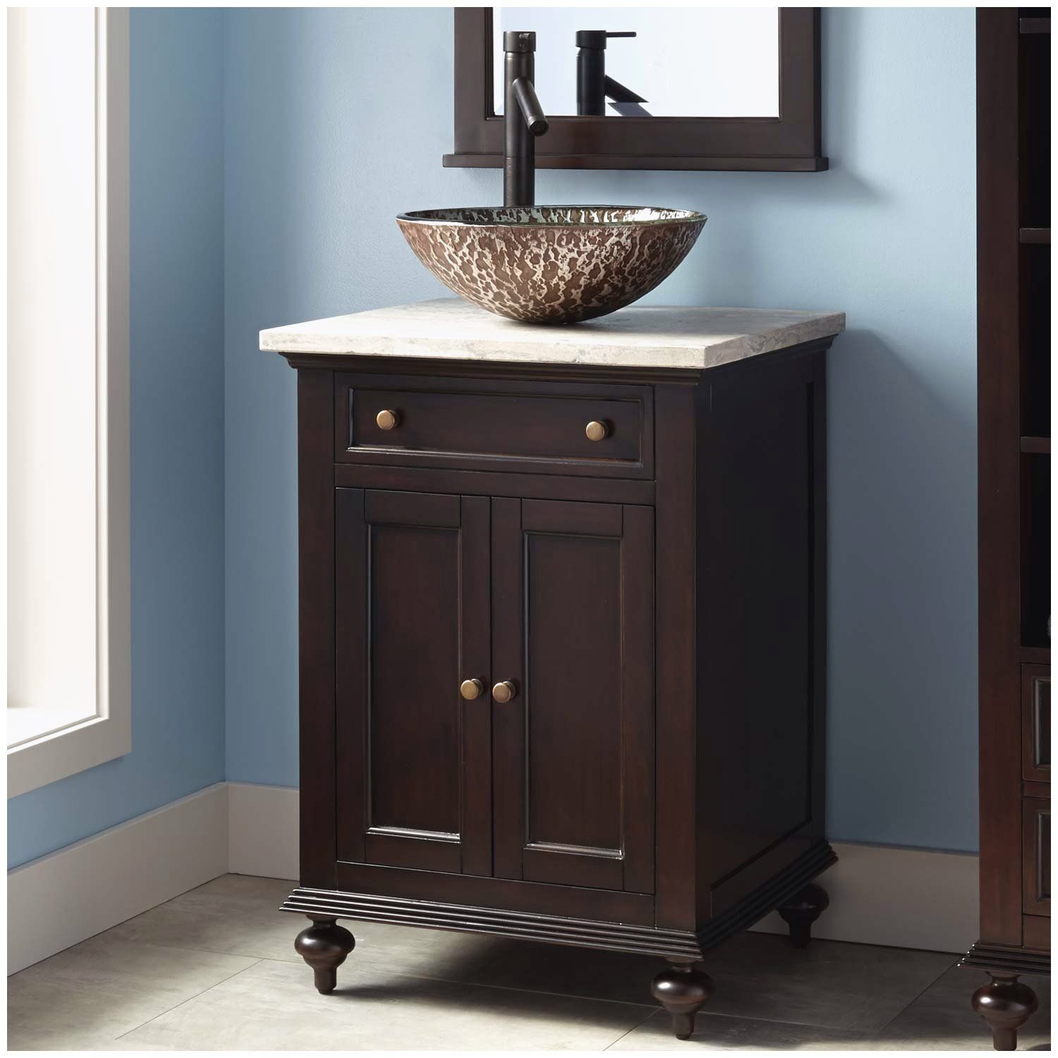Lowes Clearance Bathroom Vanities Of Bathroom Vanities In 2020 24 Bathroom Vanity Vessel Sink Vanity Black Vanity Bathroom