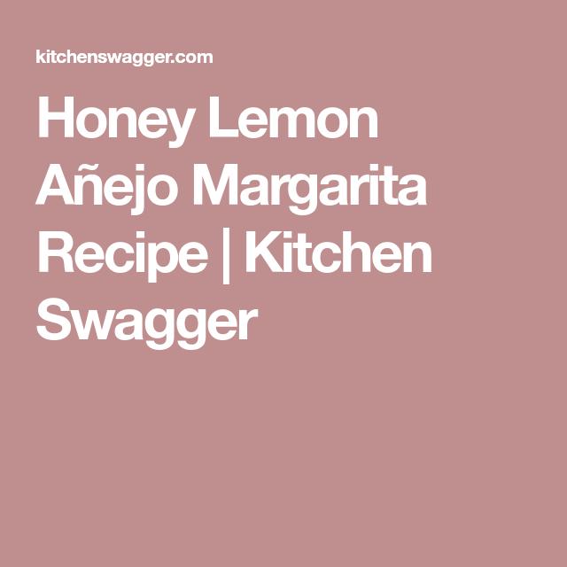 Honey Lemon & Grand Marnier Margarita