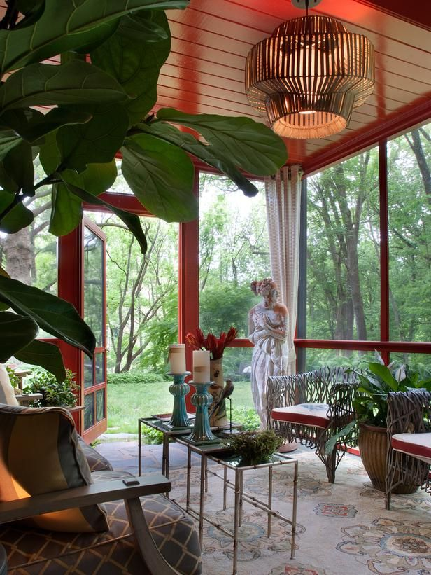A Sad Sun Room Gets A Vibrant Makeover. SunroomsPorch IdeasBackyard ...