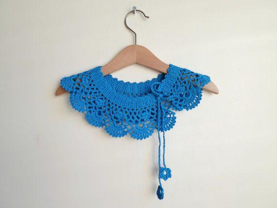 Cotton Crochet collar Collar Necklace Peter Pan by NMNHANDMADE, $29.00