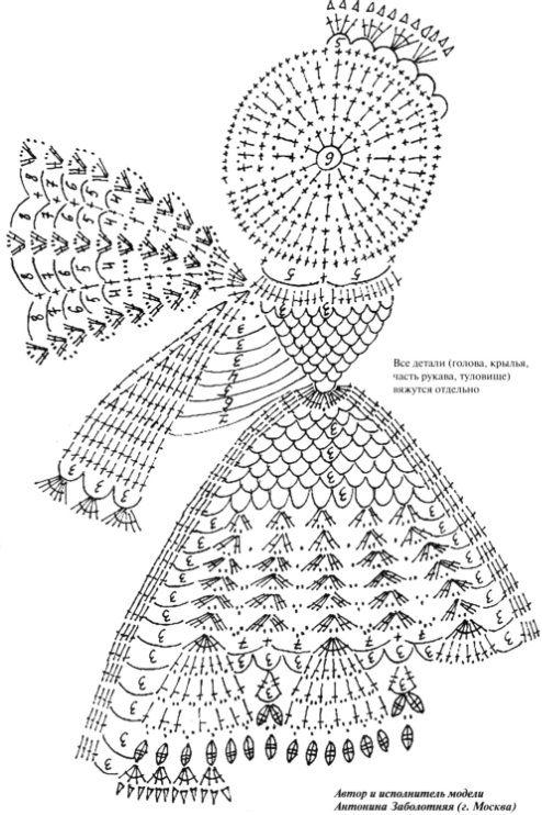 Ангелочки крючок схемы