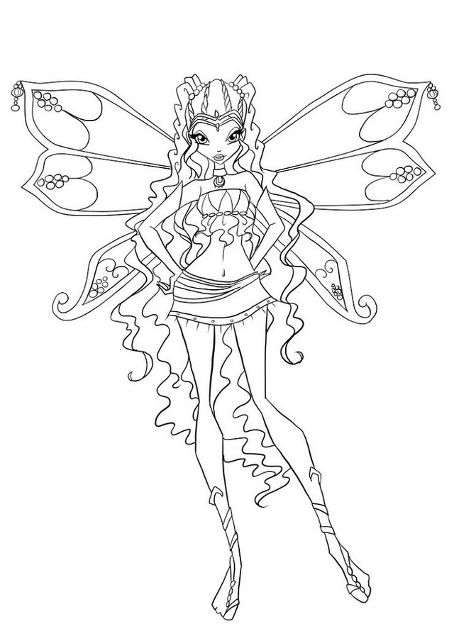 Aisha Layla Winx Club Coloring Page Mermaid Coloring Pages Fairy Coloring Pages Coloring Pages
