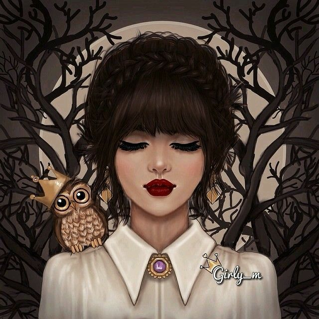 girly girl owl drawings girly drawings girly m instagram art girl dark chicos hipster girls life