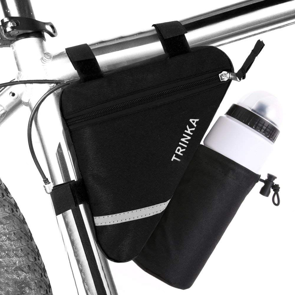 Front Tube Black Triangle Bag Cycling Pouch Bicycle Release Frame Pannier