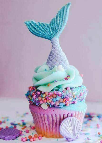 Mermaid Cupcakes Fish For Girls Summer Themed Cool