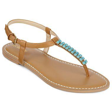 9df07a0f4b3b Liz Claiborne Gypsy Beaded Flat Thong Sandals - jcpenney