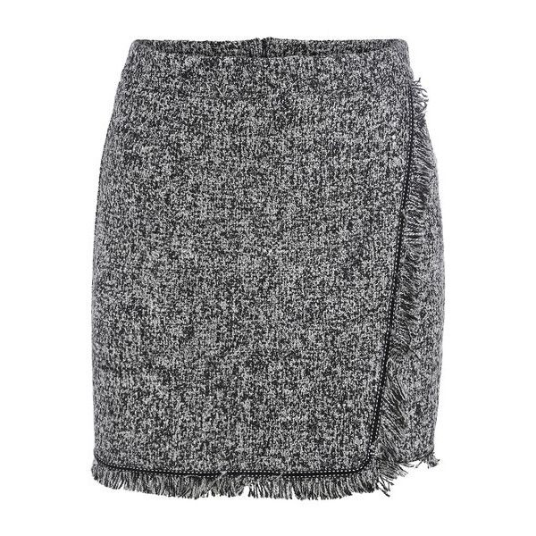 SheIn(sheinside) Grey Fringe Bodycon Skirt ($14) ❤ liked on Polyvore featuring skirts, shein, grey, gray skirt, fringe mini skirt, body con skirt, fringe skirt and bodycon skirt