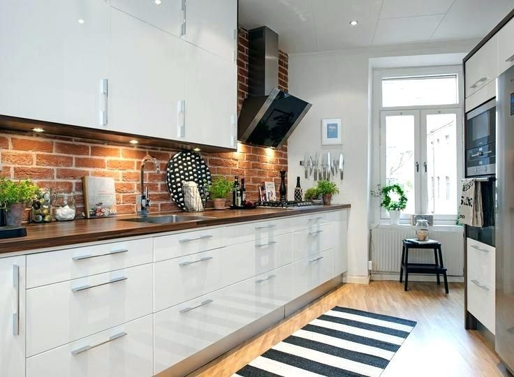 32 Amazing Ideas Brick Wall Designs In Modern Kitchens Walls Play A Central Function In Beautifying A Brick Wall Kitchen Trendy Kitchen Tile Kitchen Interior