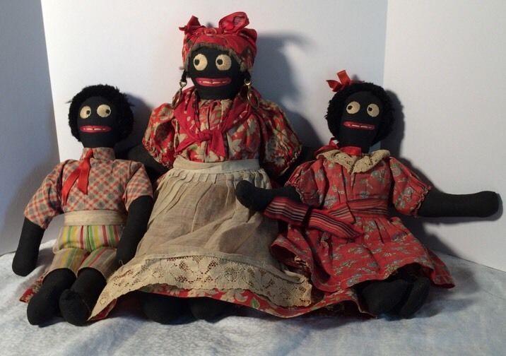 Vintage Cloth Folk Art Black Americana Rag Dolls 1950 Sexcellent Condition Black Folk Art Dolls Black Dolls Vintage Folk Doll