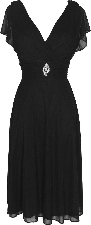 Short sleeve mesh kneelength bridesmaid dress at amazon womenus