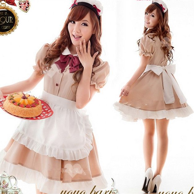 Dress For Women Cute S Cosplay Maid Outfit Restaurant Waiter Cos Anese Anime Clothing Short Vestidos China Mainland