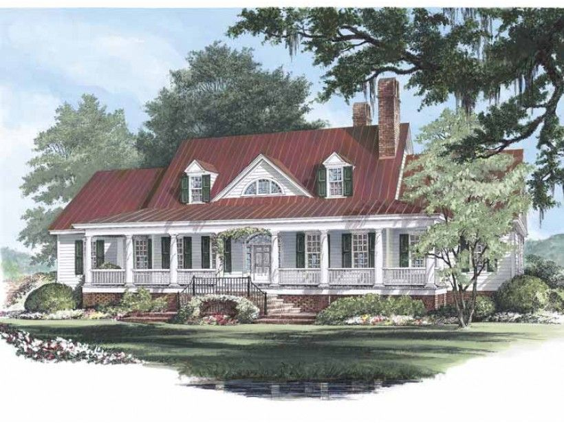 Low Country House Plan with 4227 Square