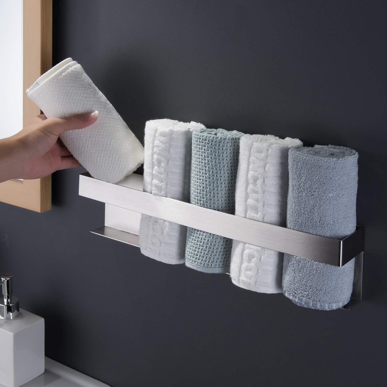 Handtuchhalter Aus Edelstahl Furs Badezimmer In 2020 Handtuchhalter Ohne Bohren Handtuchregal Handtuchhalter Edelstahl